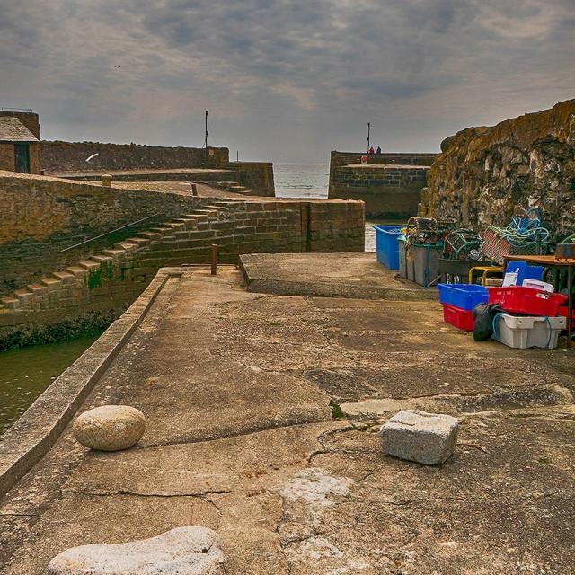 """Charlestown Harbour, Cornwall."" stock image"