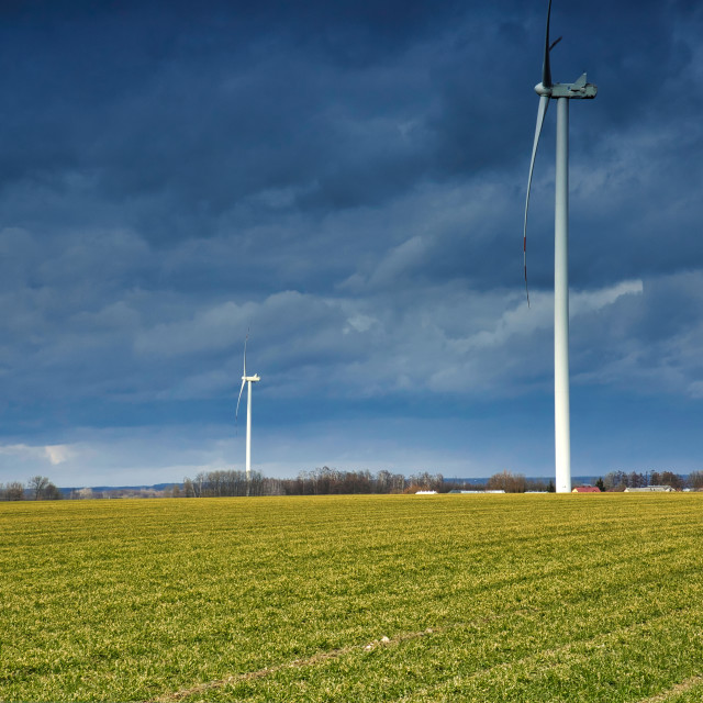 """Windmills for electric power production"" stock image"