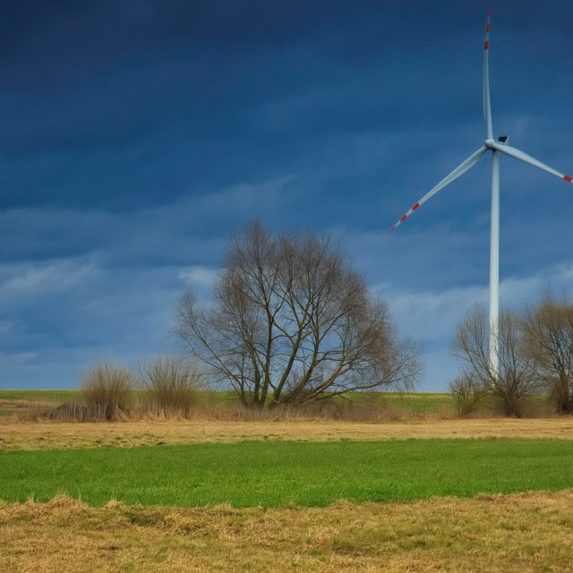 """Windmill for electric power production"" stock image"