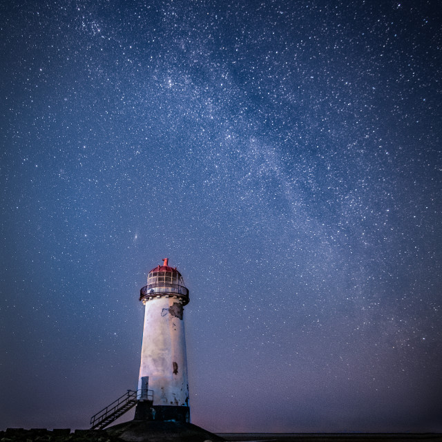 """""""Milky Way over Talacre"""" stock image"""
