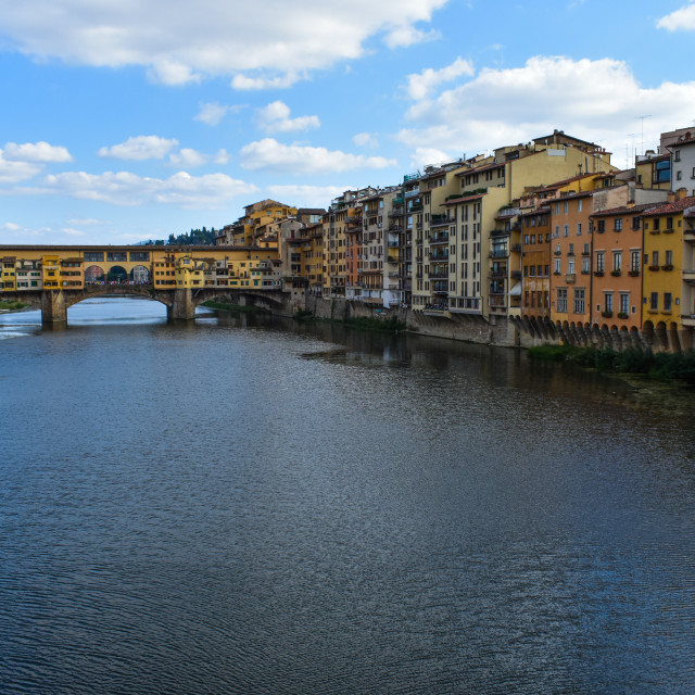 """Arno Flows Through Florence"" stock image"