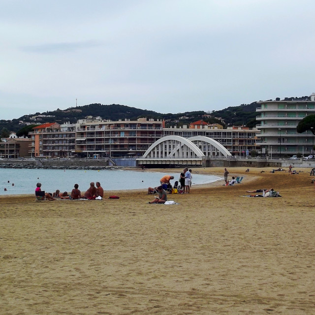 """Beach in St Maxime, South of France"" stock image"