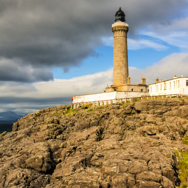 """Ardnamurchan Point Lighthouse in Portrait Format."" stock image"