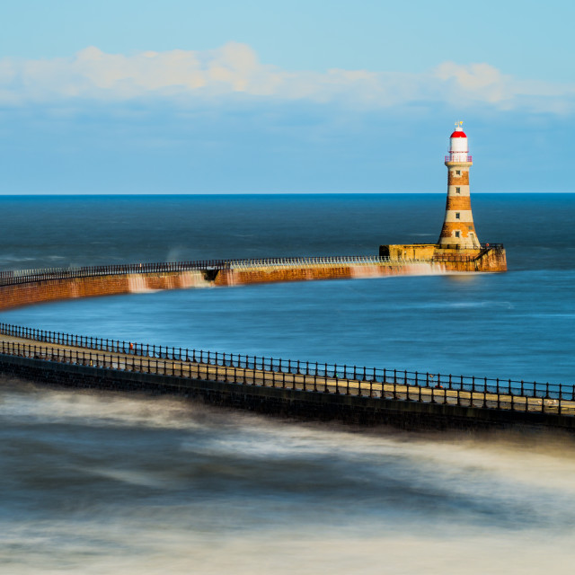 """Roker Pier and Lighthouse"" stock image"