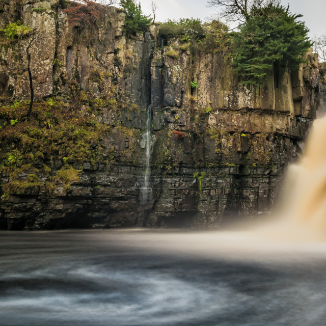 """High Force Waterfall"" stock image"