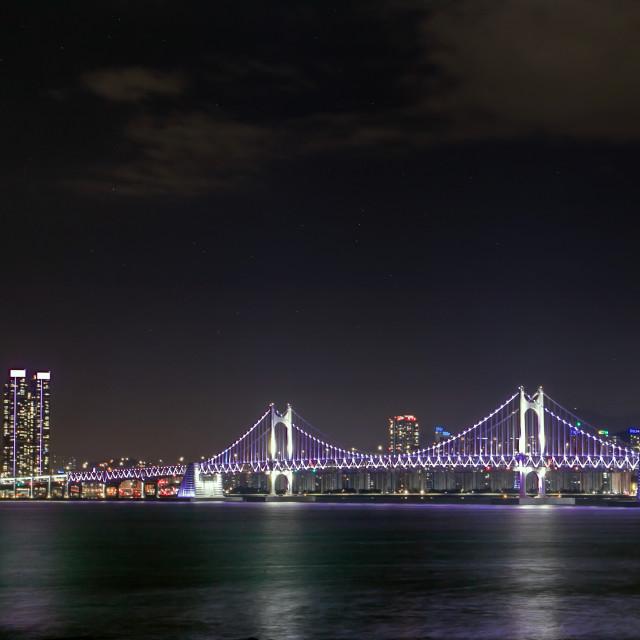 """""""Gwangan Bridge"""" stock image"""