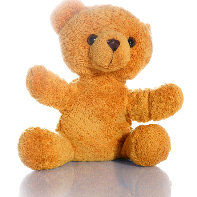 """""""A cute pink teddy bear for a child to cuddle"""" stock image"""