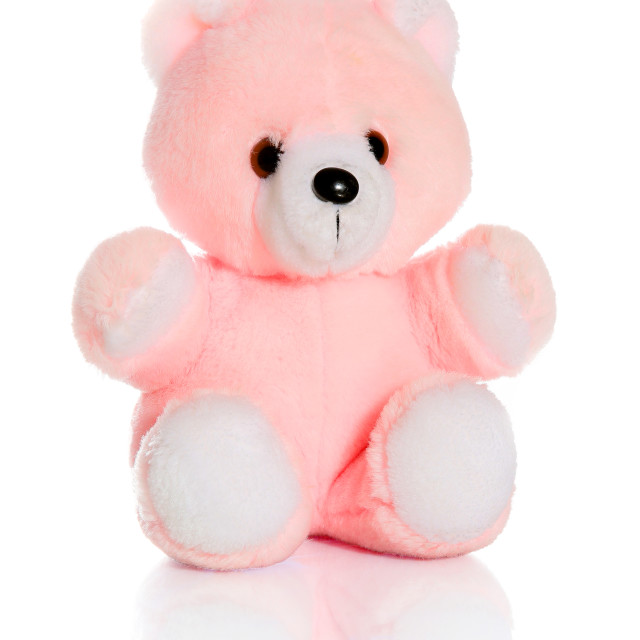 """A cute pink teddy bear for a child to cuddle"" stock image"