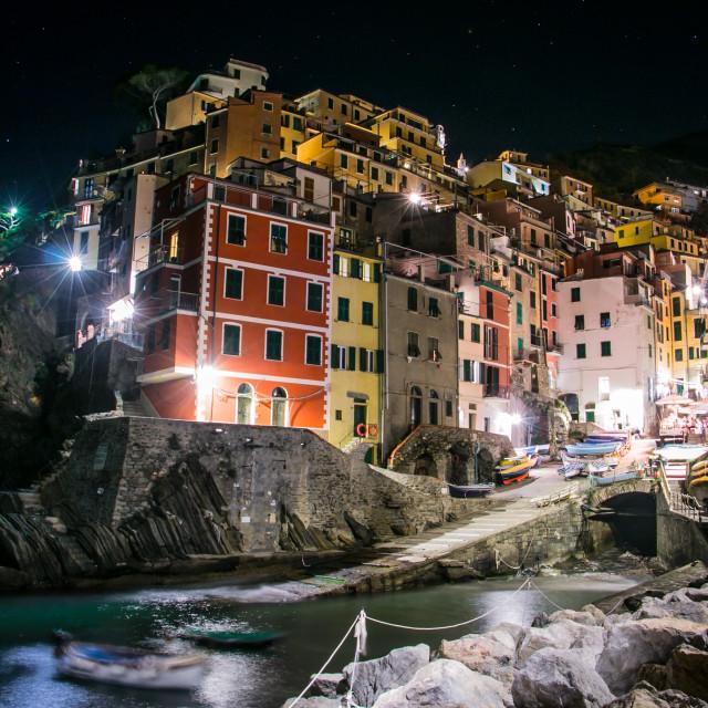"""""""Riomaggiore, Italy"""" stock image"""