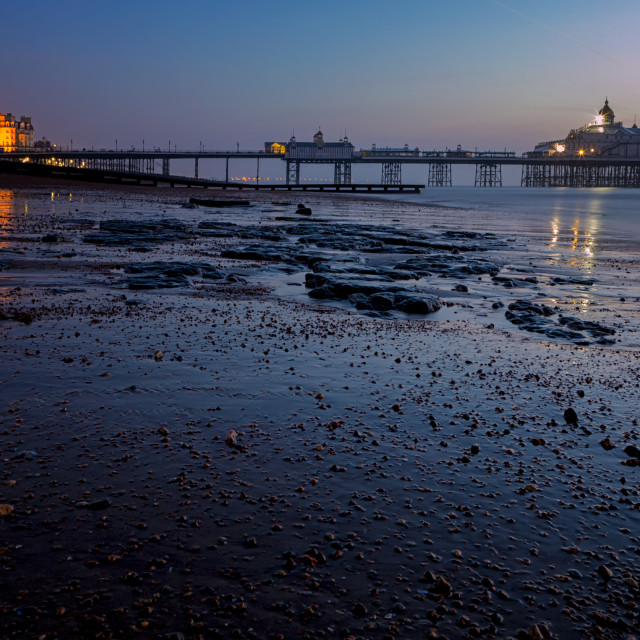 """Eastbourne Pier: The blue Hour"" stock image"