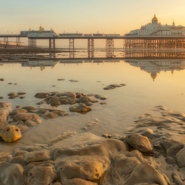 """""""Eastbourne Pier, The Golden Hour"""" stock image"""