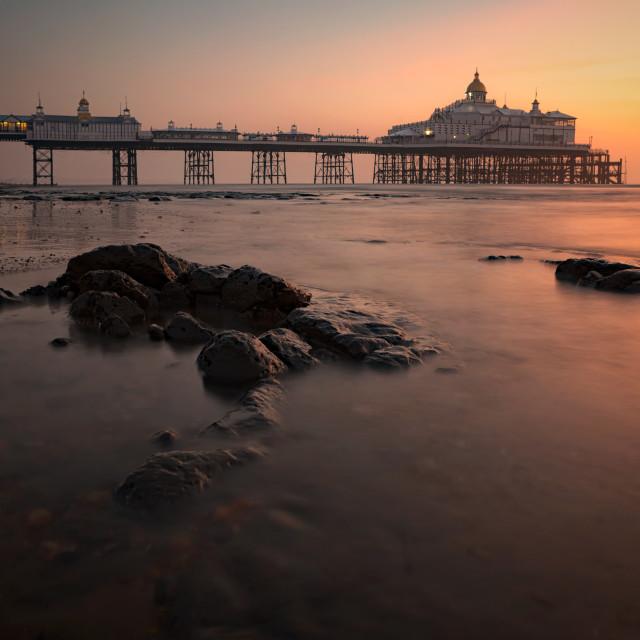 """Eastbourne Pier, before sunrise"" stock image"
