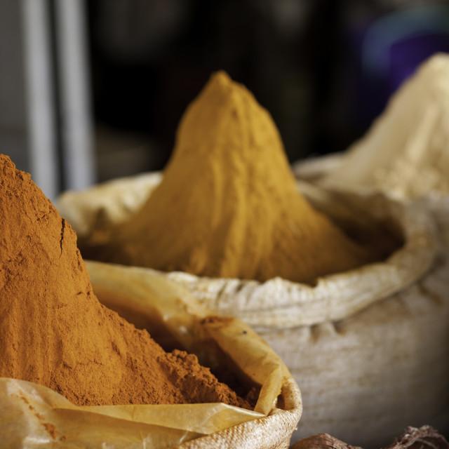 """""""spices in market in Dire Dawa, Ethiopia"""" stock image"""