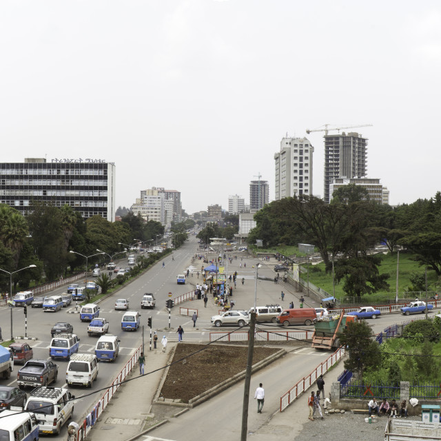 """traffic in Addis Ababa, Ethiopia"" stock image"