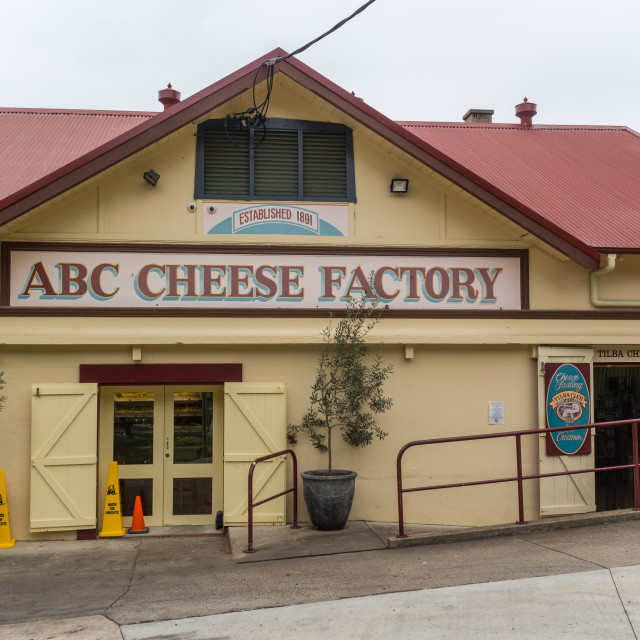 """ABC cheese factory"" stock image"