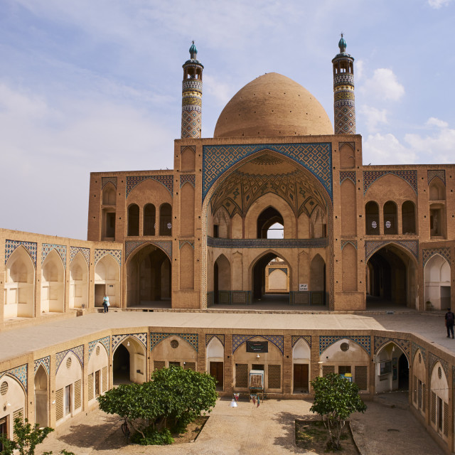 """Iran, Isfahan province, Kashan city, Friday mosque"" stock image"