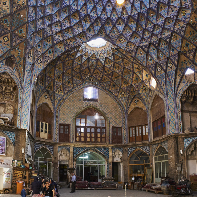 """Iran, Isfahan province, Kashan city, the bazaar"" stock image"