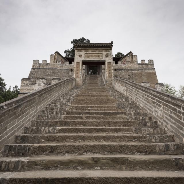 """Sima Qian's Temple, Hancheng, Shaanxi Province, China, Asia"" stock image"