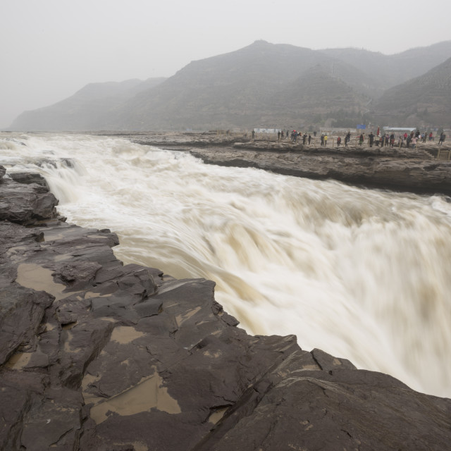 """""""Hukou Waterfall on the Yellow River in Shaanxi Province, China, Asia"""" stock image"""