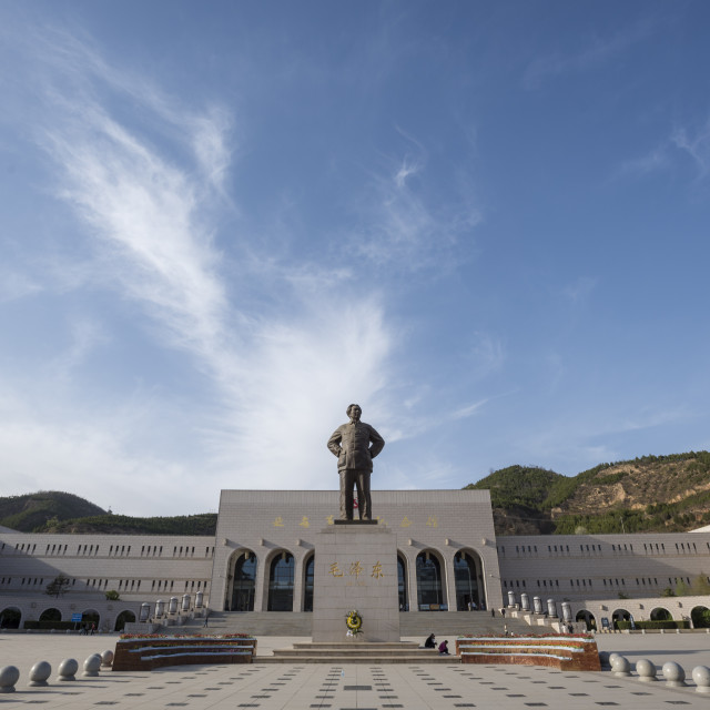 """Yanan Revolutionary Memorial Hall, Yan'an, Shaanxi Province, China, Asia"" stock image"