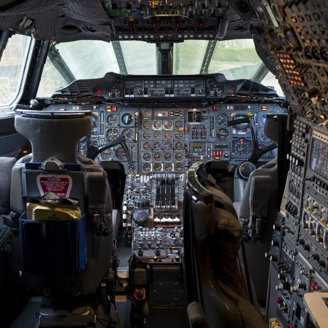 """Concorde Flight Deck 1"" stock image"