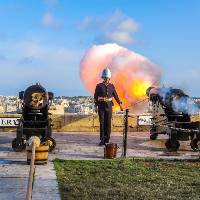 """Valletta Saluting Battery"" stock image"