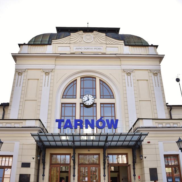 """Tarnów: Train Station"" stock image"