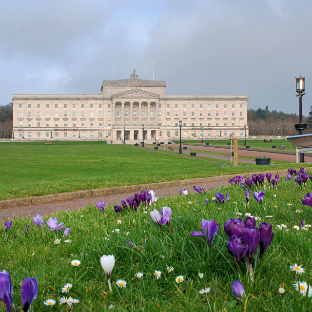 """Parliament Buildings in Stormont"" stock image"