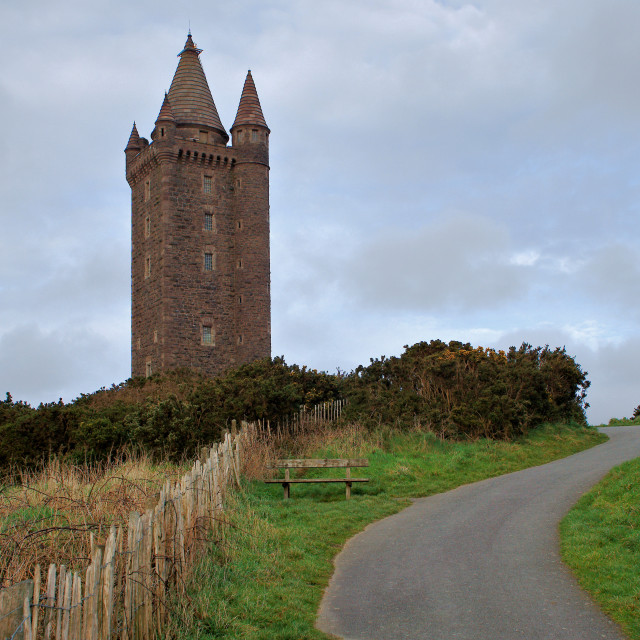 """Scrabo Tower"" stock image"