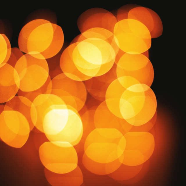 """Bright bokeh lights defocused abstract background"" stock image"