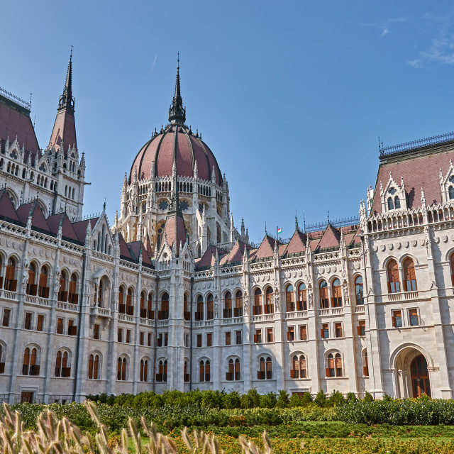 """The famous parliament in a capital Budapest of Hungary"" stock image"
