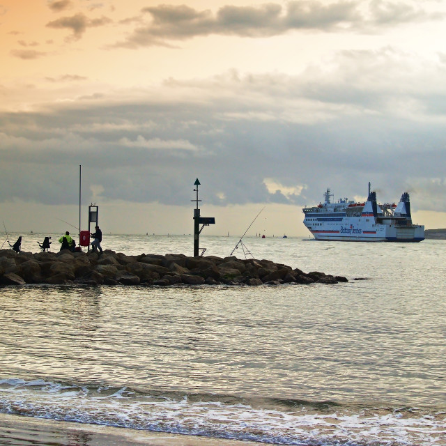 """Morning Ferry, Poole Harbour"" stock image"