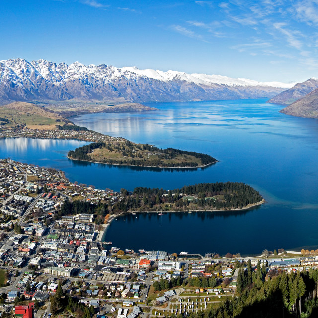 """Queenstown, New Zealand"" stock image"