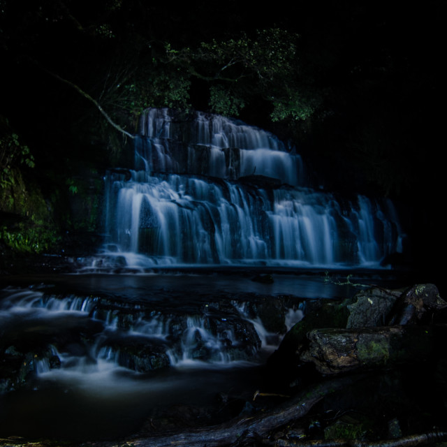 """Purakaunui Waterfalls"" stock image"