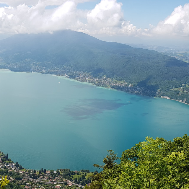 """""""Lake annecy view from above"""" stock image"""
