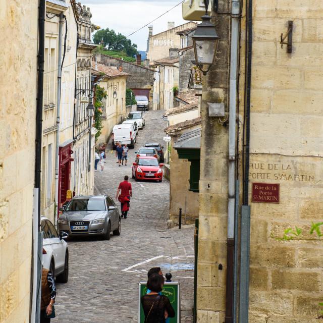 """""""Saint-Émilion village - UNESCO World Heritage Site"""" stock image"""