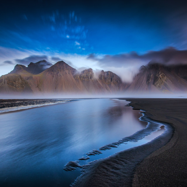 """Vestrahorn Reflections"" stock image"