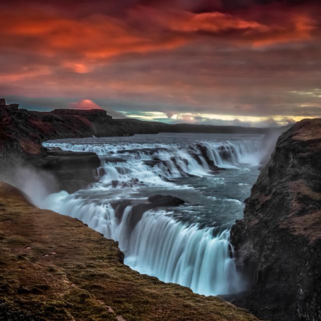 """Gullfoss Dawn"" stock image"