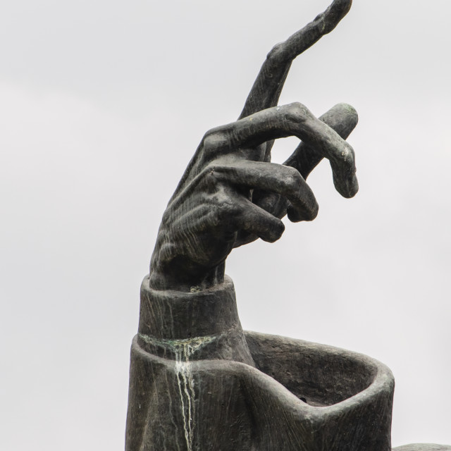 """""""The hand from Ivan Mestrovic's sculpture of Gregory of Nin (G"""" stock image"""
