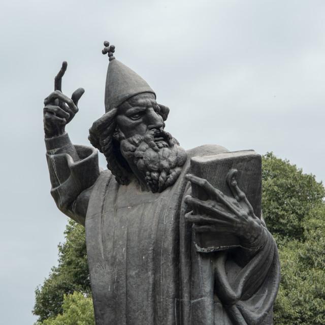 """Ivan Mestrovic's sculpture of Gregory of Nin (Grgur Ninski). G"" stock image"