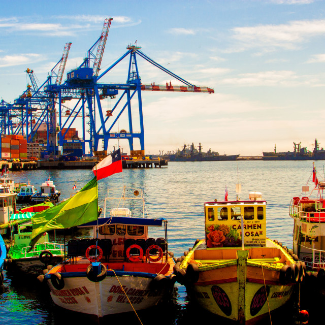 """Seaport of Valparaiso"" stock image"