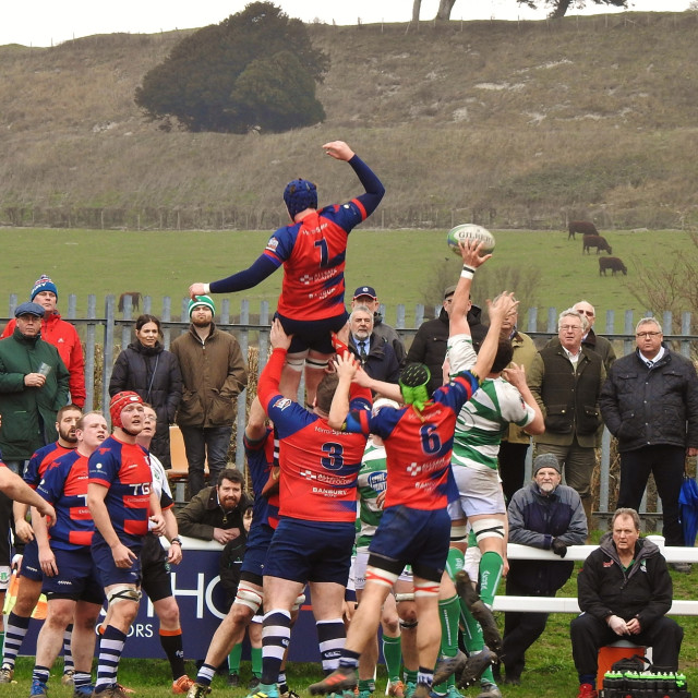 """""""Old Sarum Rugby."""" stock image"""