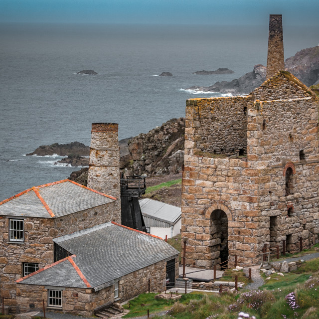 """Cornish Tin Mine at Levant"" stock image"