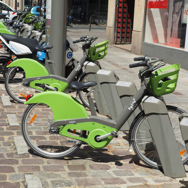 """Bicycle sharing system Velib'"" stock image"