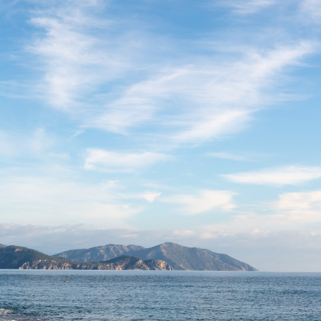 """""""West Turkish coast at Sarigerme village in sunny day"""" stock image"""