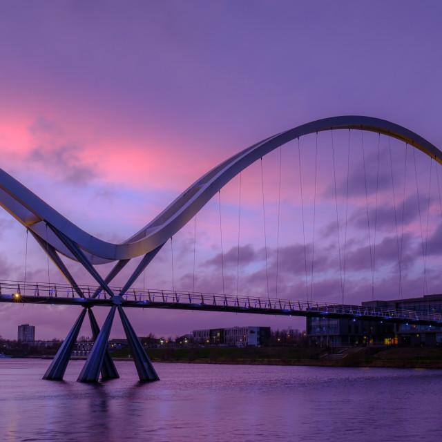 """Infinity Bridge on the River Tees"" stock image"