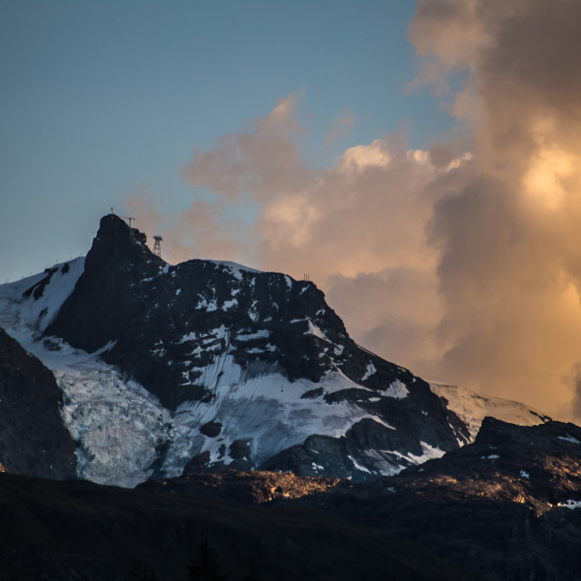 """""""Evening sun over mountains"""" stock image"""