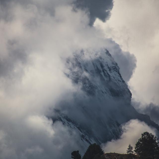 """""""Cloud covered Matterhorn"""" stock image"""