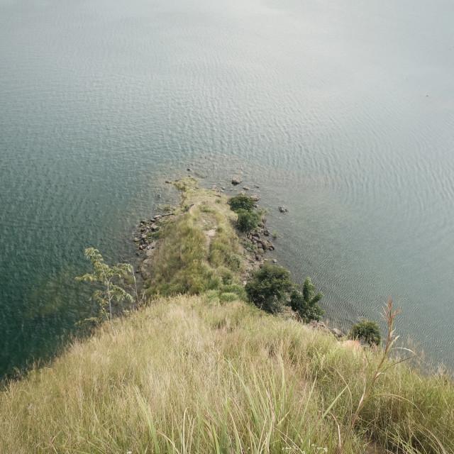 """Going down to the Lake Toba"" stock image"
