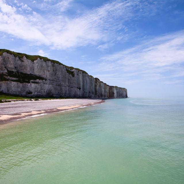 """Normandy Coastline in Summer"" stock image"